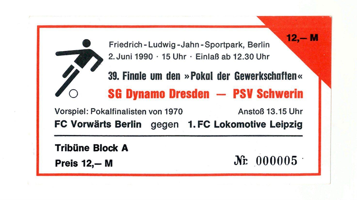 Das letzte Finale der DDR